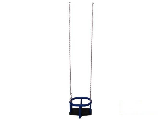 TPE baby swing seat  LUX with aluminium insert + Galvanized metal chain set 6 mm 1,8 m
